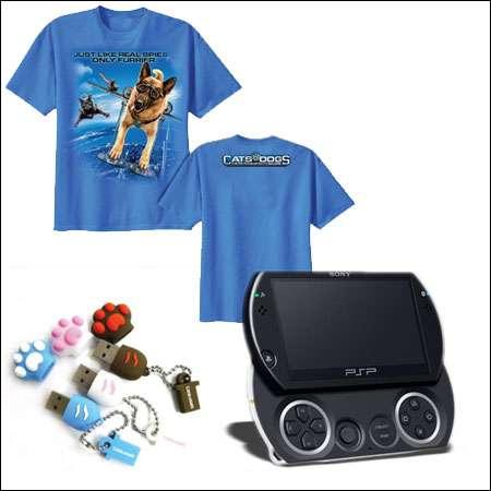 PSP, clés USB et T-shirts, crédits Warner Bros.