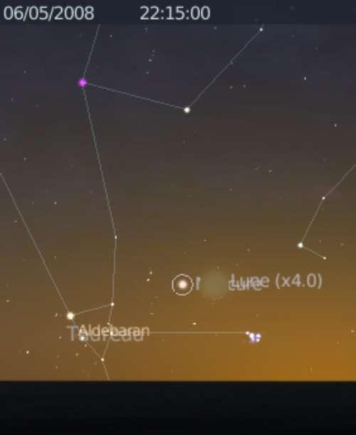 La Lune est en rapprochement avec Mercure, les Pléiades et Aldébaran