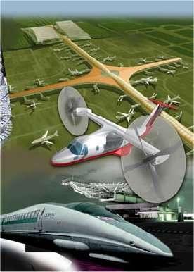 Mieux intégrer le transport aérien aux autres moyens de transport, jusqu'à programmer un trajet depuis le point de départ jusqu'à la destination finale : voilà de quoi réduire le temps du trajet tout en diminuant aussi la consommation d'énergie. C'est l'une des idées du rapport européen Flightpath 2050. © Commission européenne