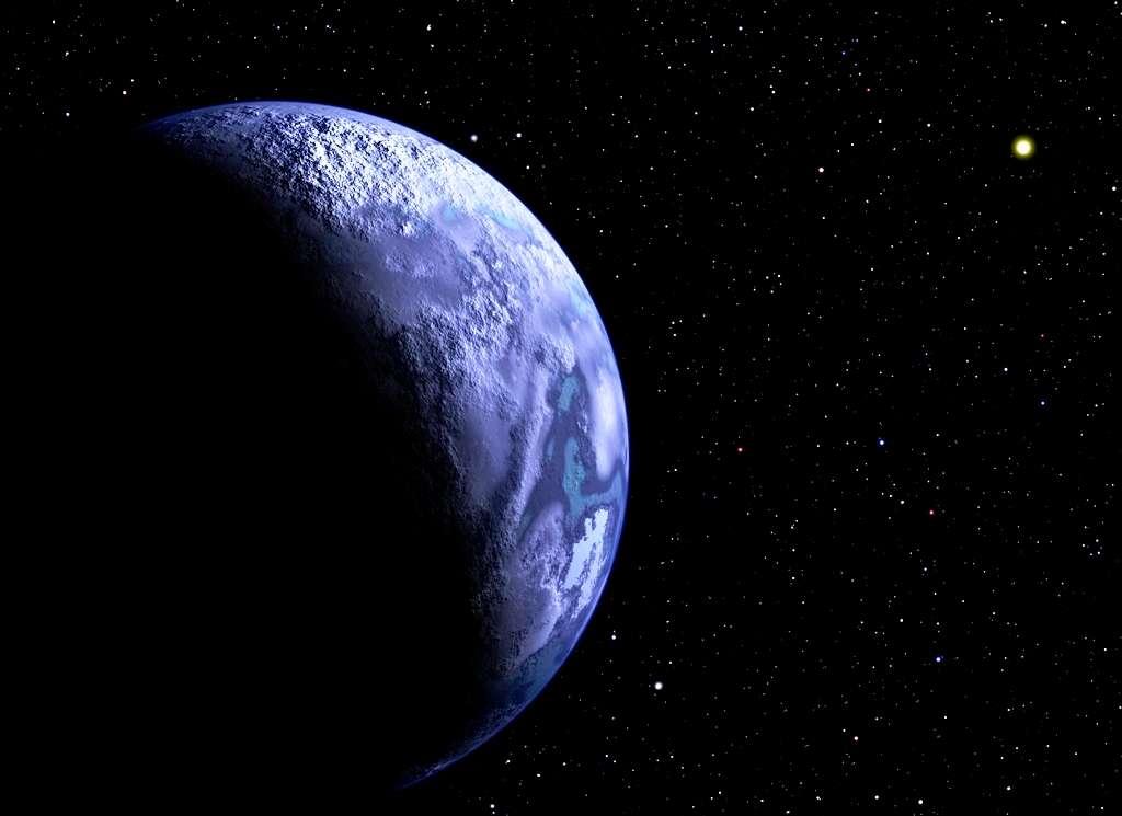 Une vision d'artiste d'une exoplanète nomade sédentarisée. © Christine Pulliam (CfA)
