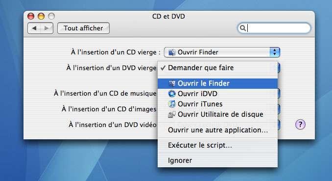 Graver un CD ou un DVD de données depuis le Finder - Crédits : Futura-Sciences