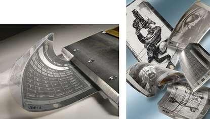 Des écrans pliables pour les journaux électroniques ! (crédit : Philips)