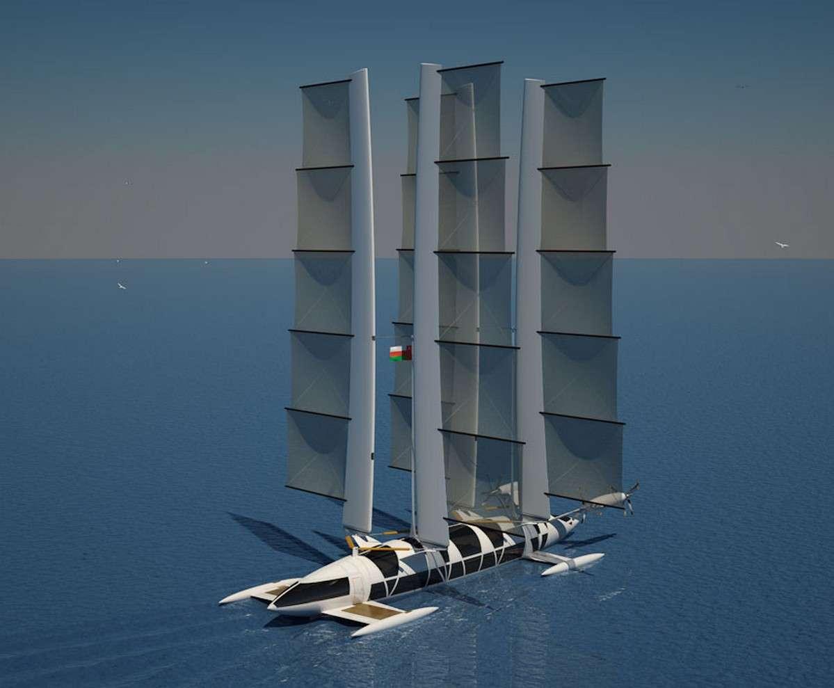 Le Flying Yacht du designer français Yelken Octuri est un projet personnel mené en parallèle de son emploi de designer cabine chez Airbus. © Yelken Octuri