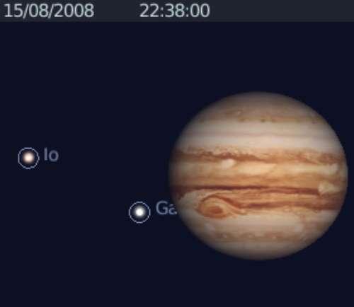 Observez le ballet des satellites joviens Ganymède et Io