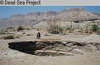 Aven apparu en raison de l'abaissement du niveau de la Mer Morte
