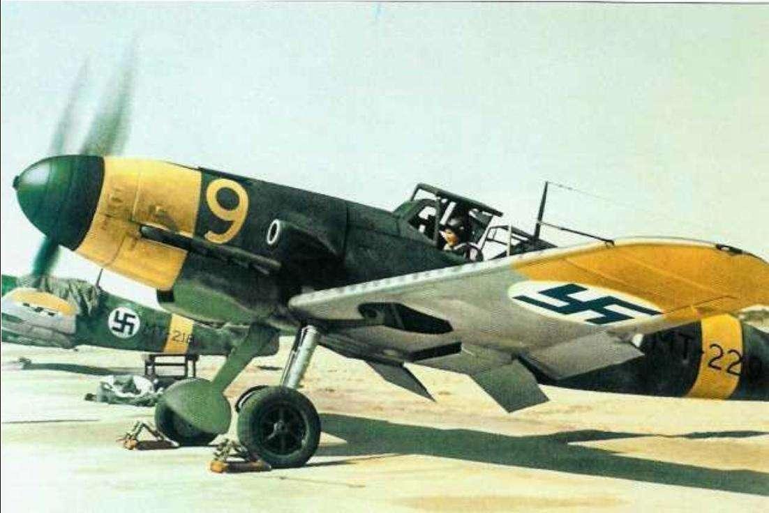 Un Messerschmitt Bf 109 en avril 1943. Durant la bataille de France, il surclassa l'ensemble des autres appareils en présence. © Wikimedia Commons, DP