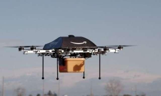 Le projet de mini-drones de livraison d'Amazon, Prime Air est toujours d'actualité. © AFP photo, Amazon