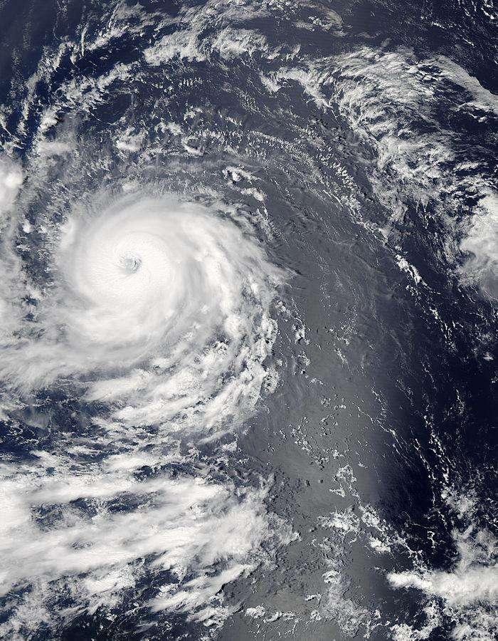L'ouragan Igor vu le 12 septembre 2010 à 16 h 00 TU par l'instrument Modis du satellite Aqua. © NASA Goddard Space Flight Center