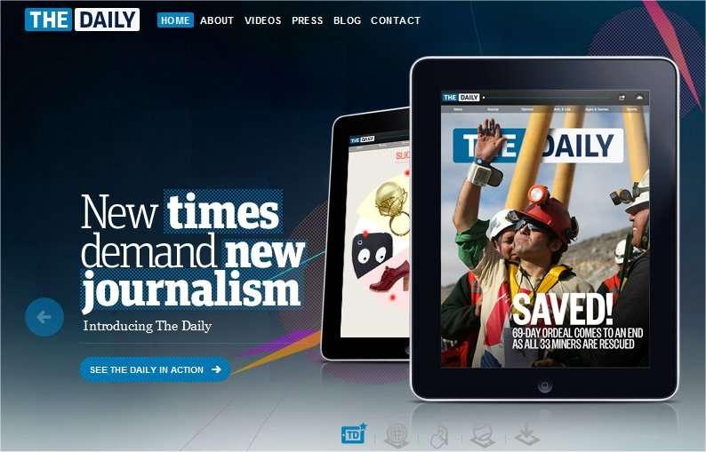 News Corp., entreprise de presse dirigée par Rupert Murdoch, vient de lancer The Daily, un journal d'actualité diffusé exclusivement pour l'iPad, uniquement en version anglaise. © News Corp.