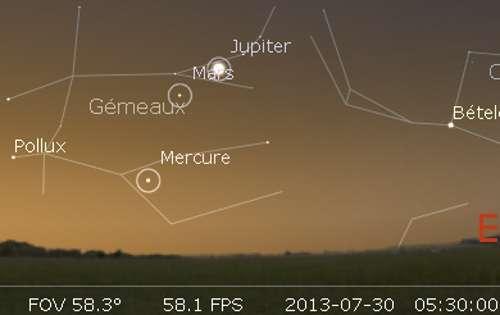 Élongation de Mercure à l'ouest du Soleil