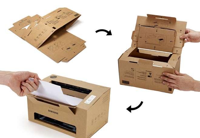 Avec ses nuées de produits, et ses nouvelles versions de smartphones ou tablettes, Samsung a-t-il vraiment la fibre écologique ? En tout cas, le constructeur montre son intérêt pour le sujet en présentant des modèles d'imprimante conçus à partir de matériaux 100 % recyclables. © Samsung