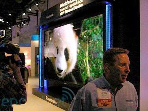 un écran plasma de 3,8 mètres. Crédit Panasonic