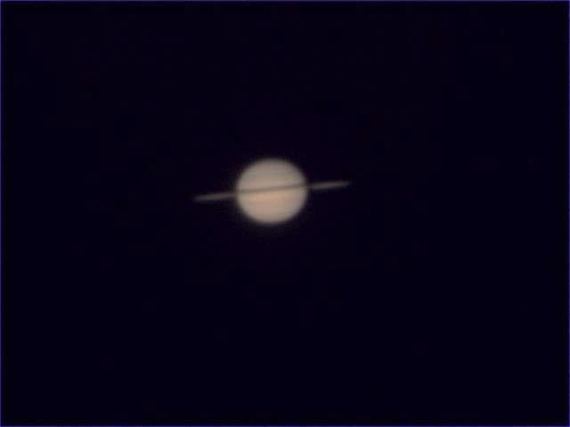 Saturne photographiée fin décembre 2008 par Xav72, son pseudo sur le forum.