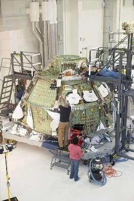 Cette capsule Orion-MPCV n'est ni plus ni moins que l'Orion du programme d'exploration lunaire nommé Constellation, abandonné par Barack Obama. Cet engin ne desservira pas la Station spatiale internationale, tâche dévolue au secteur privé. Il sera utilisé pour l'exploration martienne et les missions à destination d'astéroïdes. © Nasa
