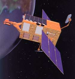 Le satellite RXTE (Rossi X-ray Timing Explorer) (Crédits : NASA/RXTE)