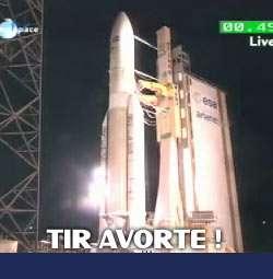 (Mise à jour) Tir avorté de la première Ariane 5 ''10 tonnes'' avec deux satellites à bord