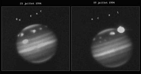 Chute de SL9 sur Jupiter