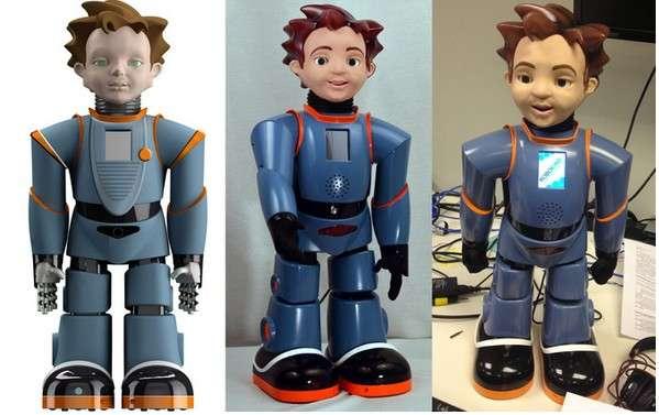Le développement du robot Zeno R25 a commencé il y a un peu plus de deux ans. Ce modèle est dérivé d'un robot, le Zeno R50, que RoboKind vend aux universités pour 16.000 dollars. Le Zeno R25 promet d'être aussi élaboré que son aîné en coûtant six fois moins cher. © RoboKind