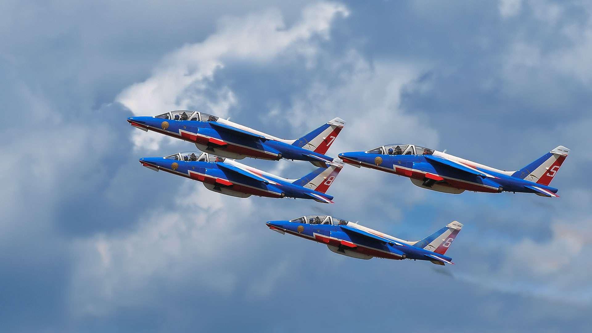 La Patrouille de France se produira à nouveau au Salon du Bourget cette année. © Archangel12, CC By-NC 2.0