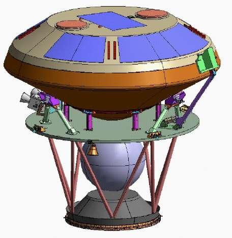Titan Mare Explorer est l'un des trois projets audacieux proposés à la Nasa qui pourraient voguer sur Ligeia Mare, une vaste étendue de méthane liquide située au pôle nord de Titan. © Nasa/JHUAPL