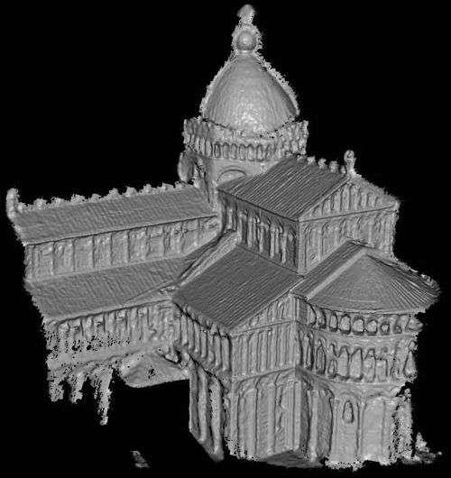 La basilique Saint-Pierre de Rome, synthétisée en 3D. Crédit Université de Washington
