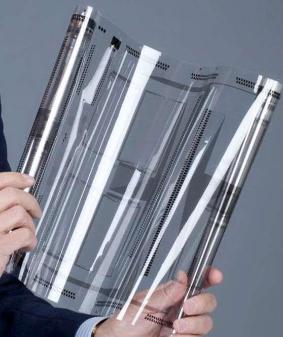Contrairement aux dispositifs tactiles actuels, le capteur XSense est imprimé sur un film flexible. © Atmel