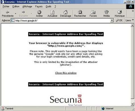 Test de phishing
