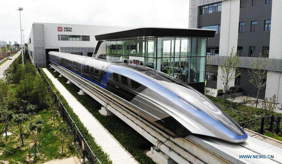 Le train à sustentation magnétique a été développé par la CRRC Corporation Limited, une entreprise d'État sous contrôle du gouvernement de la République populaire de Chine. © Xinhua
