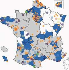 Les Agendas 21 locaux en France en 2010. © agenda21france.org