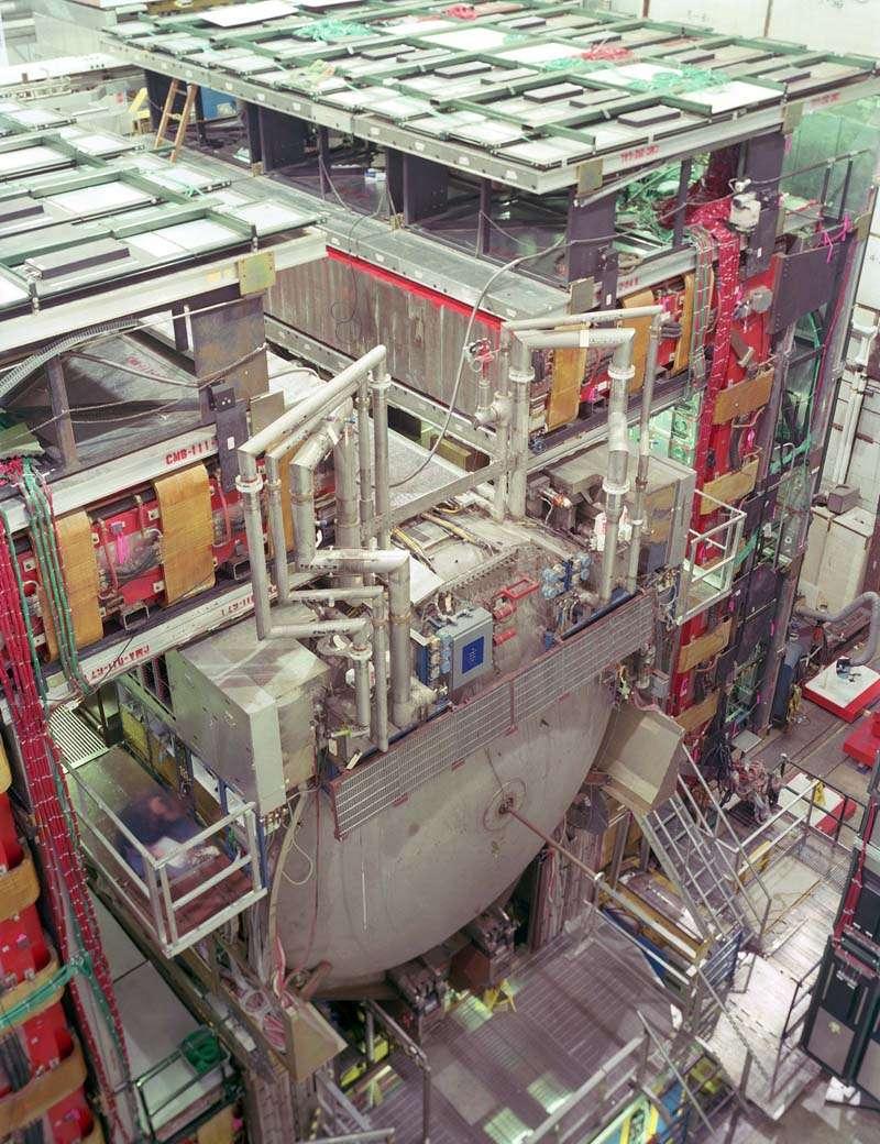 Le détecteur D0. Crédit : Fermilab.