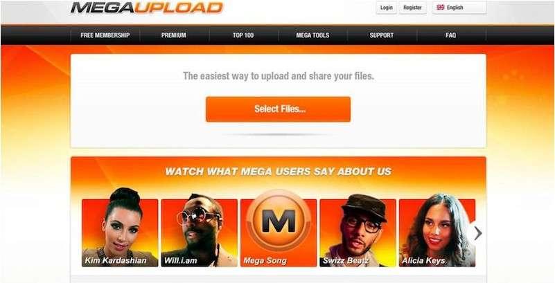 Le site Megaupload avant sa fermeture le 19 janvier 2012 par le FBI. Depuis, les 50 millions de visiteurs quotidiens ont dû trouver d'autres moyens pour partager et consulter des fichiers. © Eureka Presse