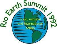 Logo du Sommet de la Terre de Rio de Janeiro de 1992. © CNUED