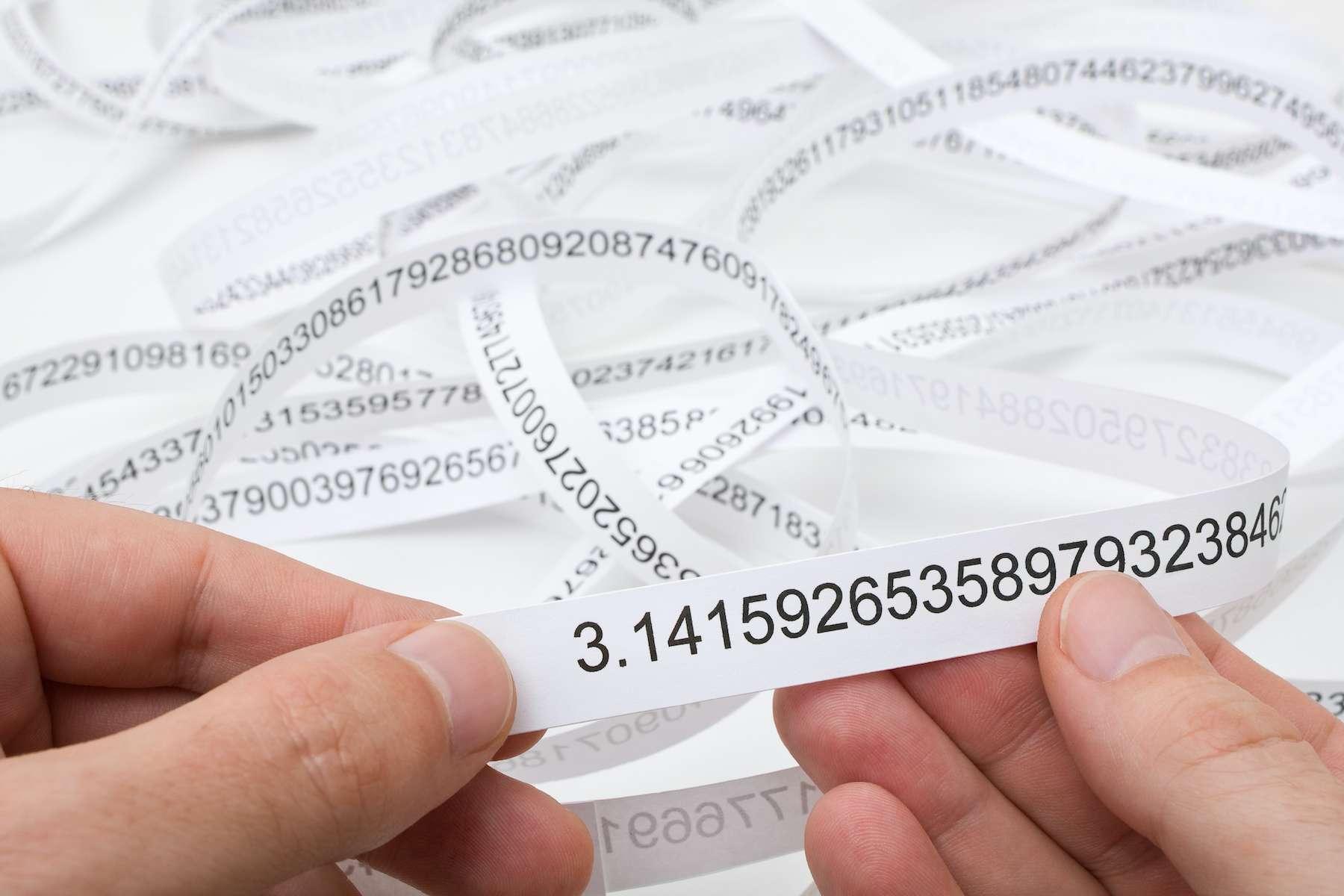 Le nombre Pi calculé avec 62.800 milliards de décimales. © Shawn Hempel, Adobe Stock