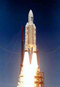 Le lanceur Ariane 5Crédit : Arianespace/CNES/ESA
