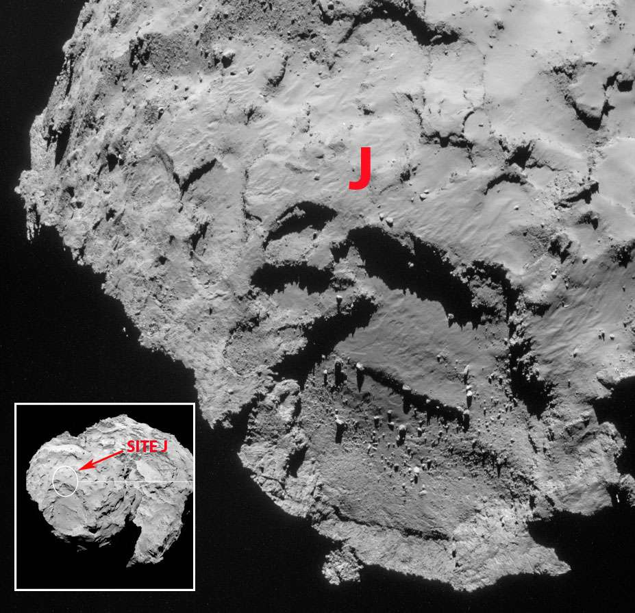 Le choix principal pour le site d'atterrissage de Philae sur la comète 67P/Churyumov-Gerasimenko. © Esa, Rosetta, Navcam