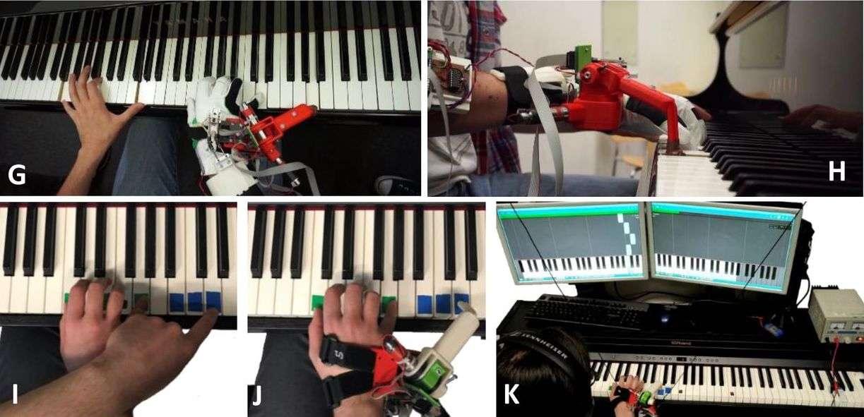 Apprendre à jouer du piano avec 11 doigts, c'est facile ! © Ali Shafti et al., bioXriv, 2021