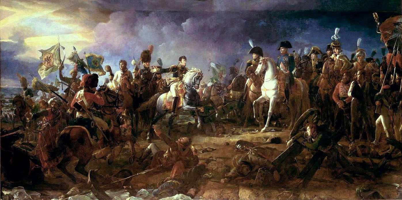 La bataille d'Austerlitz est l'un des exemples marquants de la stratégie militaire employée lors des batailles de Napoléon. © François Gérard, Wikimedia Commons, DP