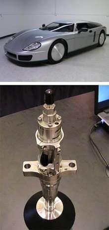 Une voiture de sport comme celle-ci, avec un poids et un aérodynamisme très proches de ceux d'une Prius, équipée du système d'injection de Transonic Combustion fait preuve de performances énergétiques supérieures à celle de l'hybride. © Transonic Combustion
