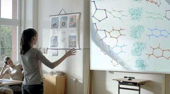 L'enseignement fait partie des domaines dans lequel Microsoft souhaite voir fleurir des applications utilisant Kinect. © Microsoft