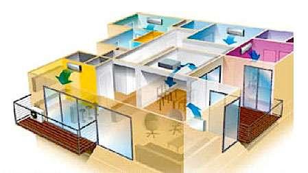 Un climatiseur par étage ? - Source : Toshiba climatisation