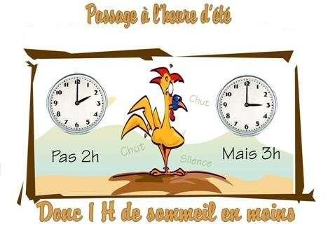 Passage à l'heure d'été le 28/03/2010 à 01:00 TU