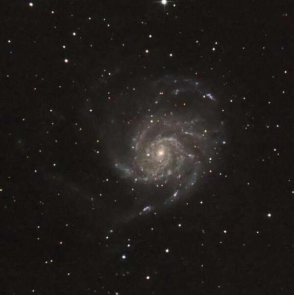 La galaxie Messier 101 avant et après l'apparition de la supernova PTF 11kly. © G. Bauza