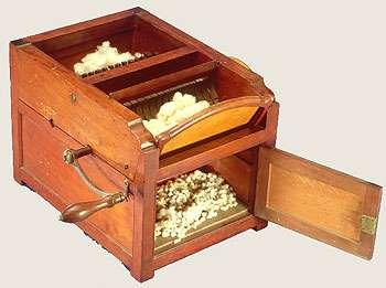 L'égreneuse a révolutionné la manière de récolter le coton. © William Hoogland, Domaine public, Wikimedia Commons