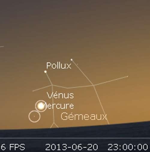 Vénus en rapprochement avec Mercure