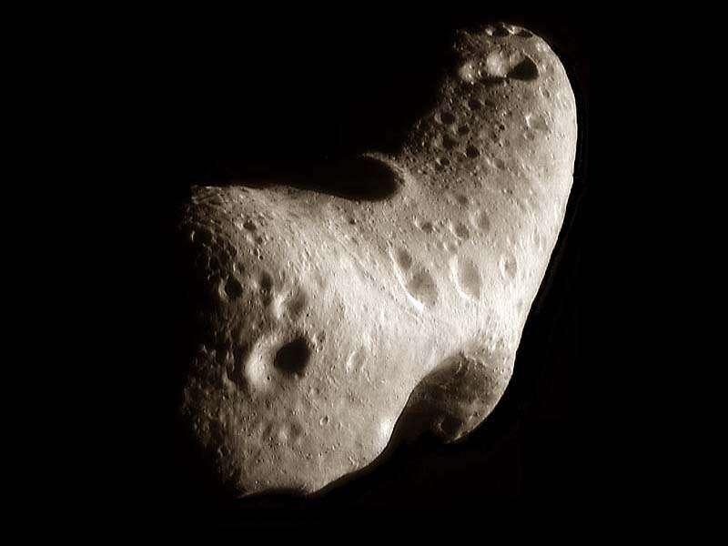 Un astéroïde peut-il être la cause d'une apocalypse demain ? On voit ici l'astéroïde 433 Eros. © Nasa