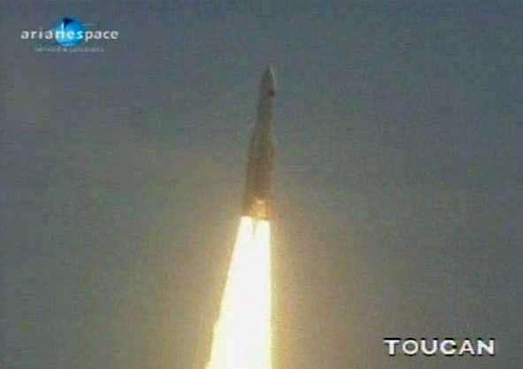 Décollage d'Ariane 5 ECA ce 14 mai 2009. Crédit Arianespace