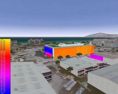 La ville de Cannes en 3D : une maquette virtuelle primée au salon Laval Virtual 2006(Crédits : CSTB/Pixxim/Alcatel Alenia Space)