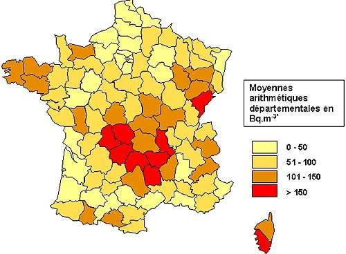 En France, certaines régions sont plus exposées au radon, dû à la présence de roches volcaniques et granitiques. © IRSN