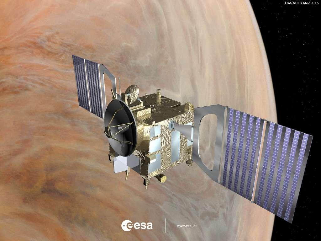 La sonde Venus Express à son poste au-dessus de Vénus. © Esa