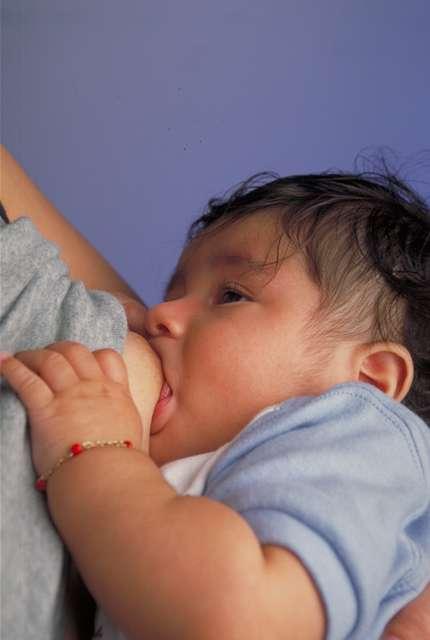 L'allaitement maternel est plutôt conseillé aujourd'hui, même s'il est difficile voire impossible dans certaines situations. Si l'enfant n'a pas tété le sein pendant les six premières heures ou s'il a un défaut anatomique de la bouche (bec de lièvre par exemple), la succion sera altérée et le lait difficilement distribué. L'allaitement est aujourd'hui déconseillé pour les mamans infectées par le virus du Sida, car la transmission de la mère à l'enfant est possible. © Ken Hammond, USDA, Wikipédia, DP